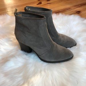 Aquatalia Brown Suede Ankle Boots Size 9